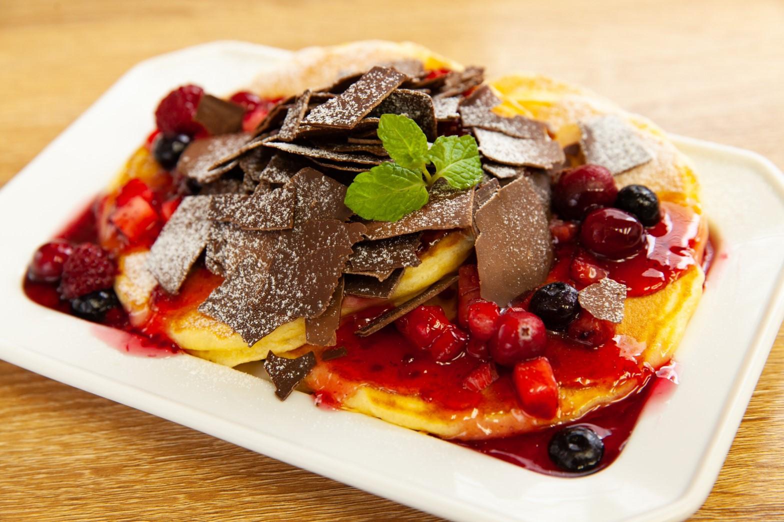 パリパリチョコベリーパンケーキ