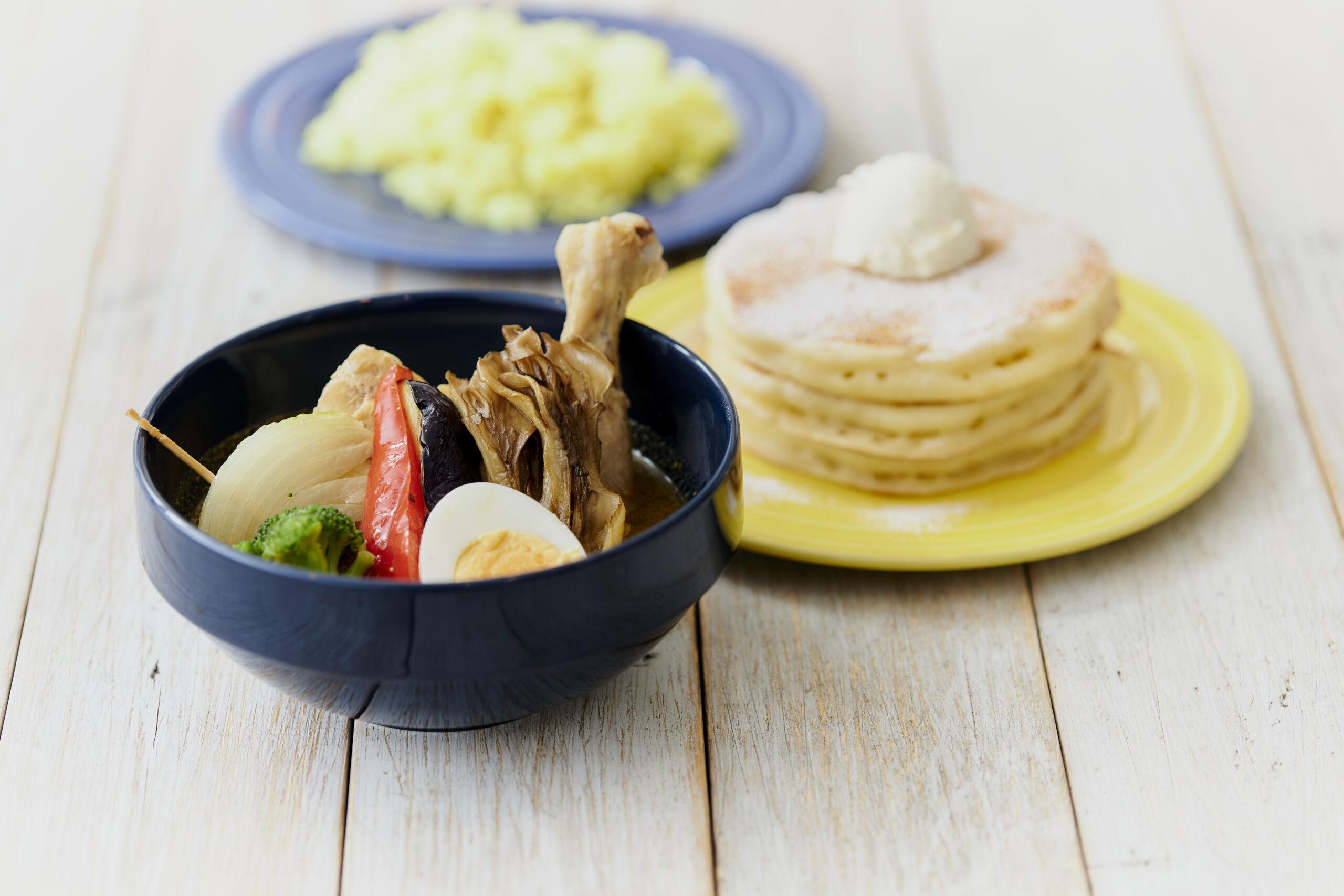 チキンスープカレー&パンケーキ